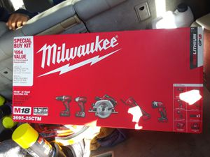 Milwaukee 5 piece combo set $200 firm must pick for Sale in Gulfport, MS