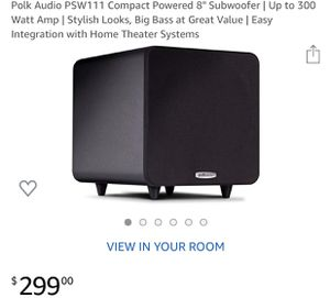 Brand new Polk Audio model PSW 111 subwoofer for Sale in Redlands, CA