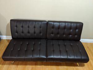 Leather Futon - Black for Sale in Miami, FL