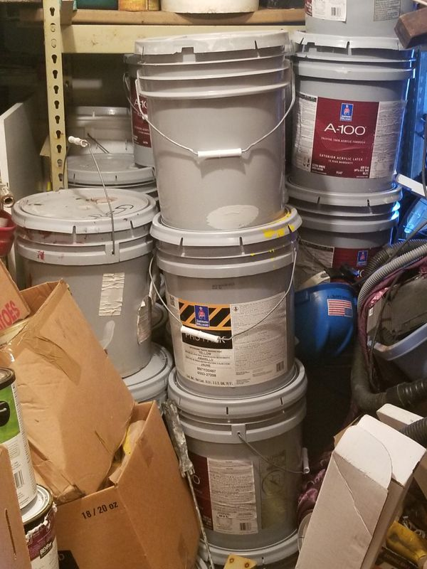 Paint 5 gallon $50 grey for contrete anything you put on millions trailers titleless