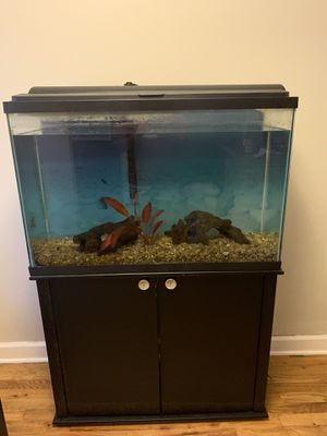 45 Gallon Fish Tank and Stand (pickup only) for Sale in Atlanta, GA