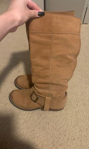 Aldo suede tan/brown winter boots with heel for Sale in Chandler, AZ