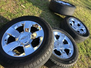 """Rines 20"""" Chevy Silverado Tahoe Suburban Avalanche goodyear tires for Sale in Garland, TX"""