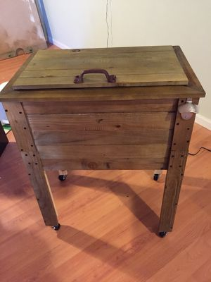 Handmade wooden cooler for Sale in Columbus, OH