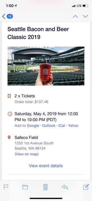 Bacon and Beer festival tickets for Sale in Tacoma, WA