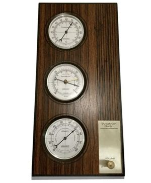 Rare Vintage Springfield Weather Radio w/ Barometer, Humidity & Temp. Model 8345 for Sale in Brooklyn, NY