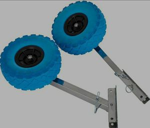 BESTAUTO BOAT LAUNCHING WHEELS FOR INFLATABLE BOAT for Sale in Upland, CA