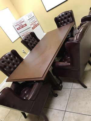Conference Table and Chairs for Sale in Naples, FL