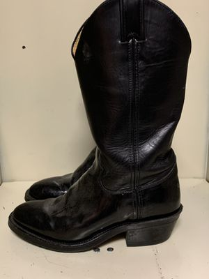 Justin Roper Boots black women's 7.5 tall heel horseback riding cowboy cowgirl boots for Sale in El Cajon, CA
