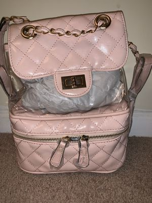 Quilted Clear Backpack (pink) for Sale in Stone Mountain, GA