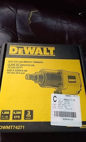 Brand new dewalt 3/4 inch air impact for Sale in Hannibal, MO