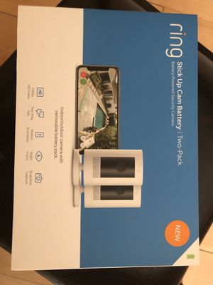 2-pack Ring Stickup Cam Battery HD security camera with two way talk for Sale in Los Gatos, CA