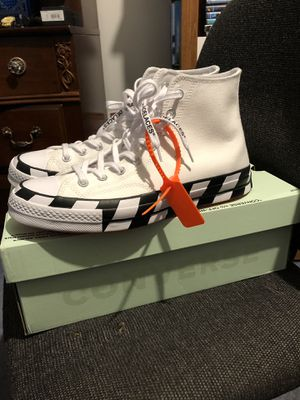 Off white converse size 10 for Sale in Woodridge, IL