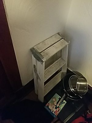 Small white step ladder for Sale in Chicago, IL