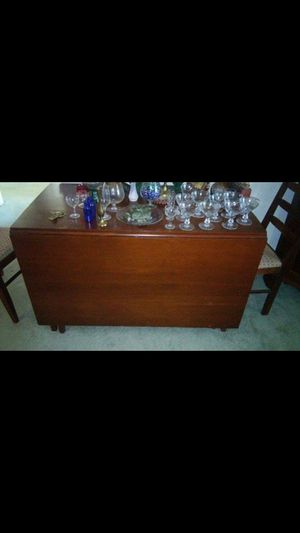 Drop Leaf Table with Four Chairs for Sale in Lynchburg, VA