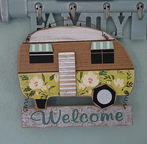 Retro Wooden RV Camper Welcome Sign for Sale in Tampa, FL