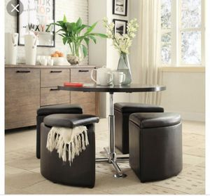 Used, Weston Home Rowley 5-Piece Gas Lift Table Dining Set with Storage Seats for Sale for sale  Brooklyn, NY