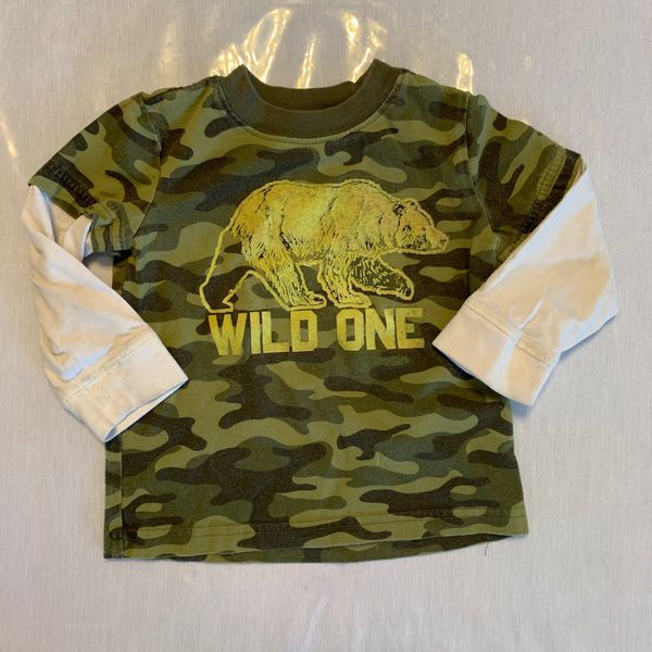 Carters wild one bear long sleeve 18mo boy shirt