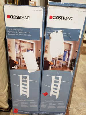 Closetmaid 5' to 10' closet organizer $30 FIRM each, 4 AVAILABLE for Sale in Redlands, CA