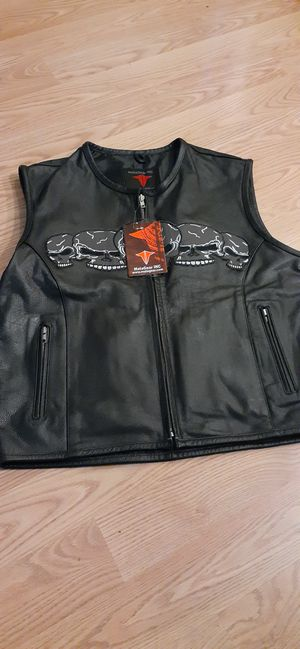 Brand New Leather Motorcycle Vest for Sale in Northeast Raleigh, NC