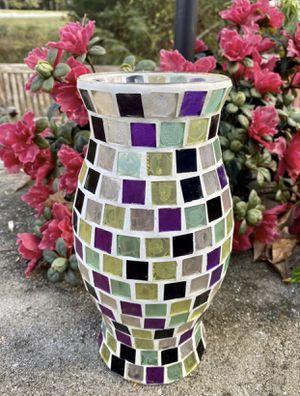 Vintage Yankee Votive Tea Light Candle Holder Mosaic Tile Mirrored Glass Shade for Sale in Chapel Hill, NC
