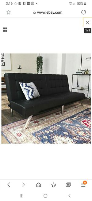 New in box faux leather futon sofa for Sale in Charlotte, NC