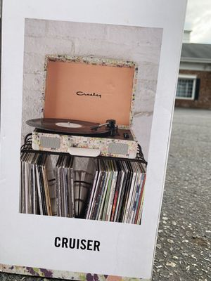 Crowley record player from Urban Outfiitters. Cream/Rose gold color. Bluetooth compatible. Built in stereo speakers. Perfect for playing your vinyl for Sale in Rocky River, OH