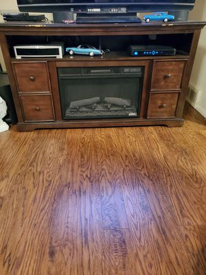 TV stand fake fire place heater for Sale in Bartlesville, OK