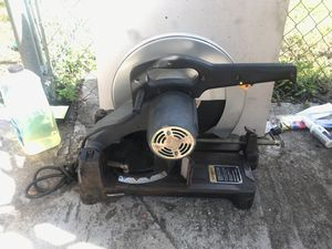 "Corded chop saw 14 "" in steel cutting heavy duty cast base power tool for Sale in Tampa, FL"