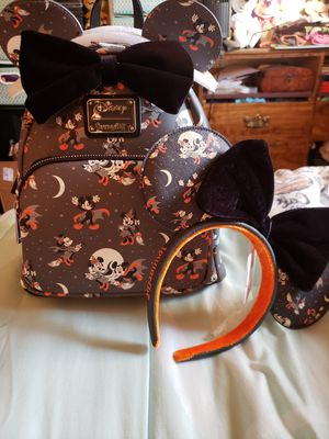 Disney Minnie Mouse Halloween Loungefly Backpack Set for Sale in Fresno, CA