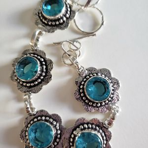 ESTATE SALE Beautiful Clear-faceted-aquamarine-bracelet for Sale in New Haven, KY