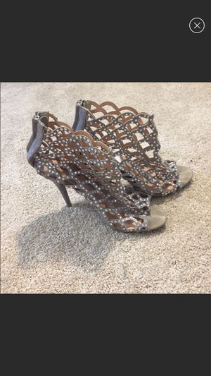 Size 9 Zigisoho silver studded four inch heels for Sale in Tampa, FL