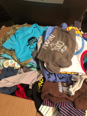 Box of used baby boy clothes for Sale in Dallas, TX
