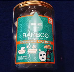 Bamboo compressed face mask & liquid face mask collection. for Sale in Liberty Lake, WA