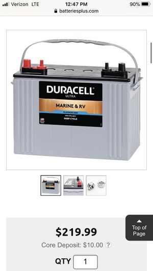 Duracell AGM deep cycle 12v battery for Sale in Florence, KY