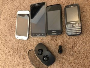 Old phones and wireless earbuds for Sale in Midvale, UT