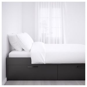 queen size bed frame with 4 storage drawers for Sale in Durham, NC