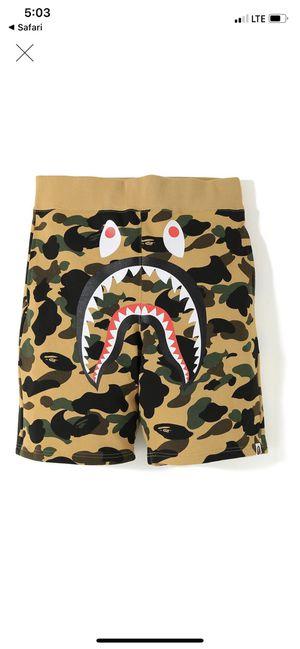Bape 1st camo shark sweat shorts for Sale in Lacey, WA