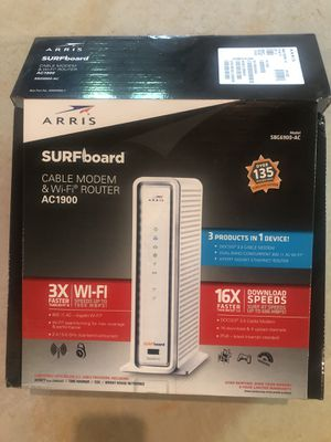 Surfboard Cable Modem and WiFi Router AC1900-SBG6900 for Sale in Cumming, GA