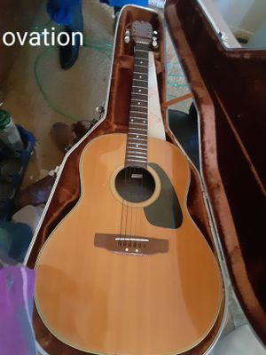 Ovation accoustic guitar and case for Sale in Canton, TX