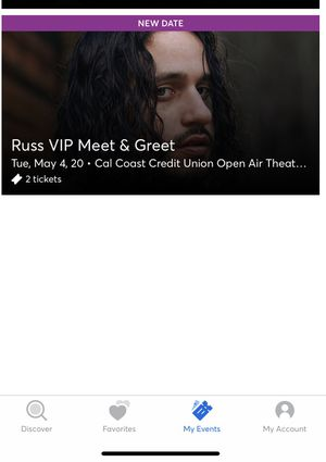 Russ VIP tickets for Sale in Spring Valley, CA