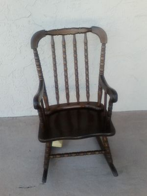 Antique solid wood CHILD'S rocking chair for Sale in Clearwater, FL