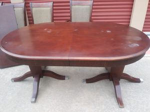 Table and chairs solid wood for Sale in Cypress, TX