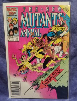 Marvel Comics The New Mutants Giant Sized Annual #2 Comic Book, 1986 for Sale in Diamond Bar, CA