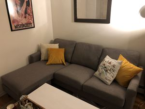 GREY SECTIONAL COUCH for Sale in Brooklyn, NY
