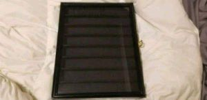 Wood and Glass Case for Coins / Poker Chips for Sale in Hanover, MD
