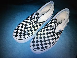 Vans Off the Wall Classic Black White Checkered Slip On Shoes Mens 8 Womens 9.5 for Sale in Bryan, TX