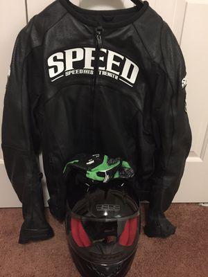 Motorcycle helmet and jacket for Sale in Warren, MI