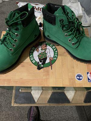 Celtics Timberlands Boots kids sz 11 for Sale in Montoursville, PA
