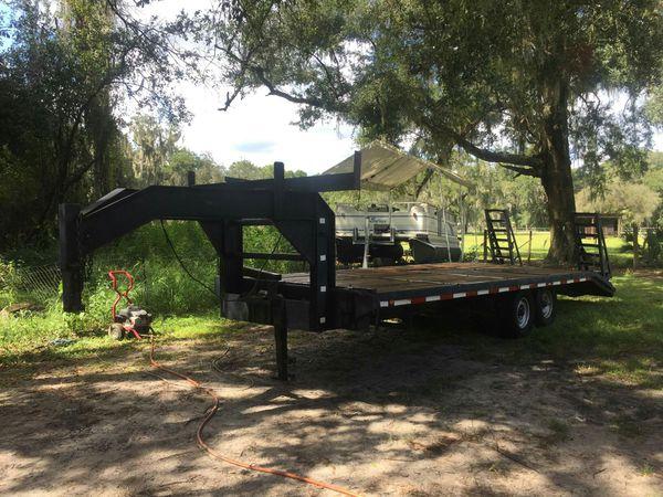 Fifth wheel or gooseneck dovetail trailer